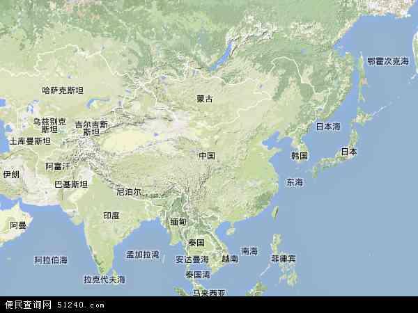中国地形图 - 中国地形图高清版 - 2016年中国地形图