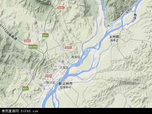 中国辽宁省丹东市振安区地图(卫星地图)