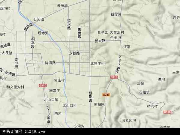 中国河南省郑州市巩义市紫荆路地图(卫星地图)图片