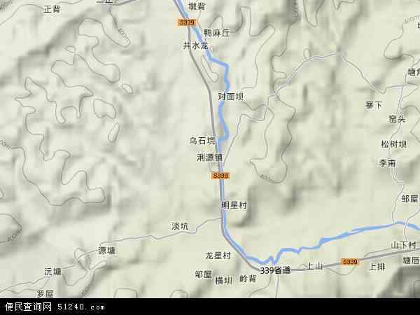 中国广东省河源市和平县?源镇地图(卫星地图)