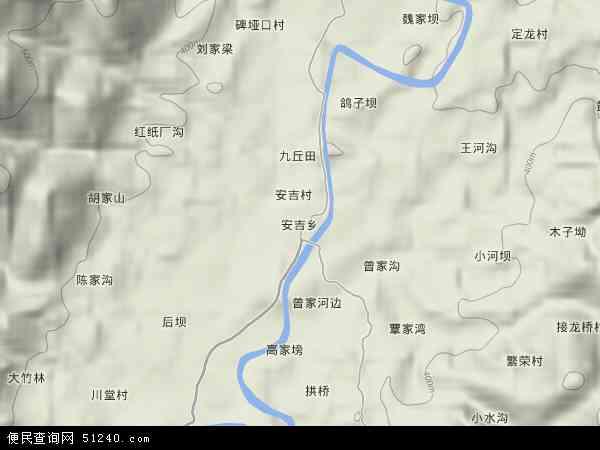 安吉乡地图 - 安吉乡卫星地图