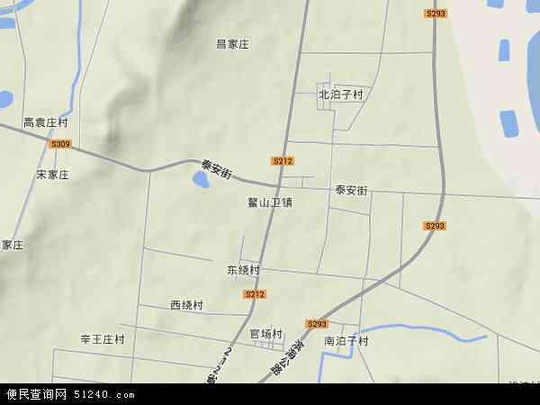 中国山东省青岛市即墨市鳌山卫地图(卫星地图)