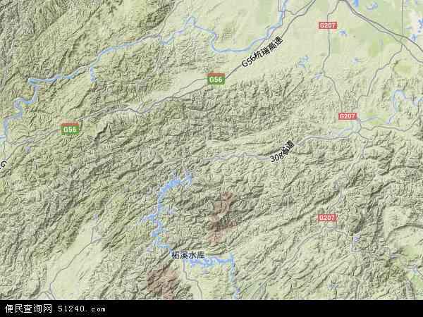 中国湖南省益阳市安化县地图(卫星地图)