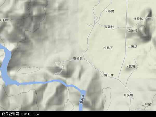 中国福建省三明市永安市安砂镇地图(卫星地图)