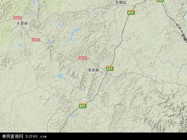 安岳县地图 - 安岳县卫星地图