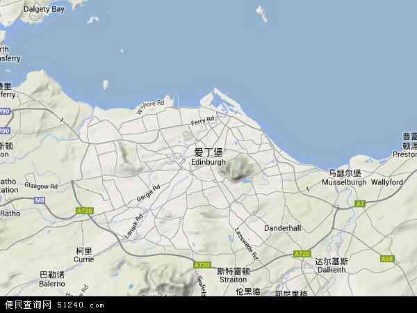 英国苏格兰爱丁堡地图(卫星地图)