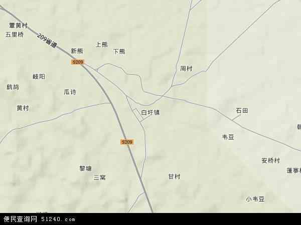 中国广西壮族自治区南宁市上林县白圩镇地图