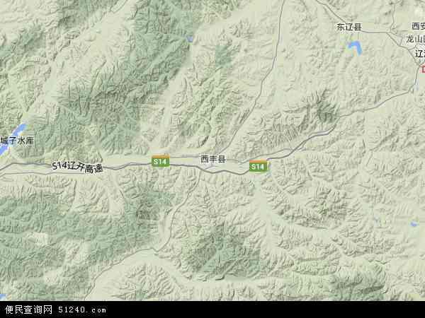 中国辽宁省铁岭市西丰县柏榆镇地图(卫星地图)