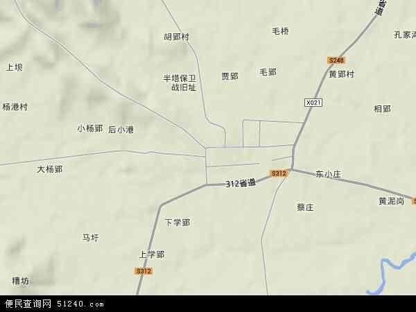 中国安徽省滁州市来安县半塔镇地图(卫星地图)