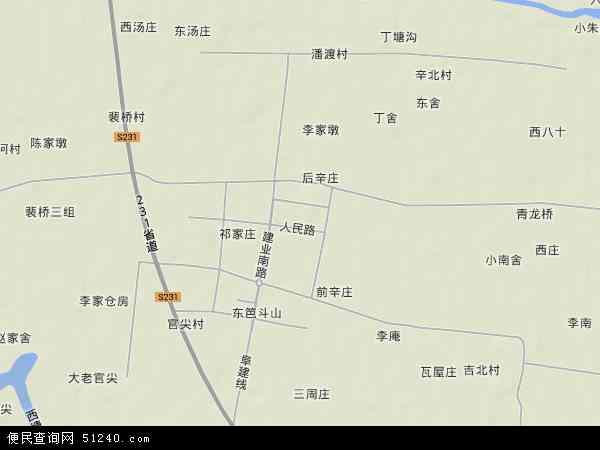 中国江苏省盐城市建湖县宝塔镇地图(卫星地图)