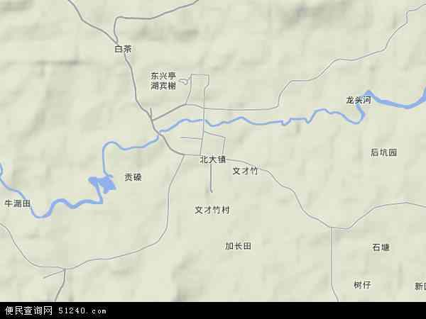 中国海南省省直辖县级行政区划万宁市北大镇地图(卫星地图)