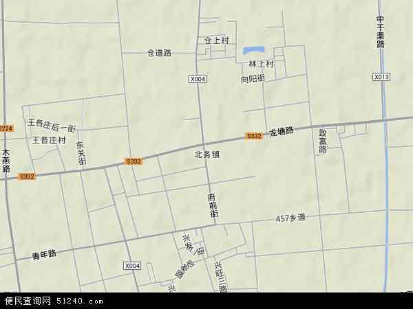 中国北京市顺义区北务镇地图(卫星地图)