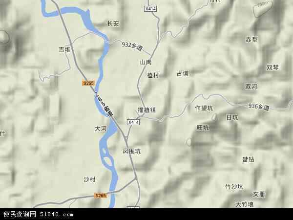 中国广东省肇庆市德庆县播植镇地图(卫星地图)