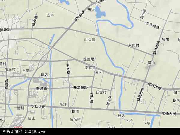 中国福建省漳州市龙文区步文镇地图(卫星地图)