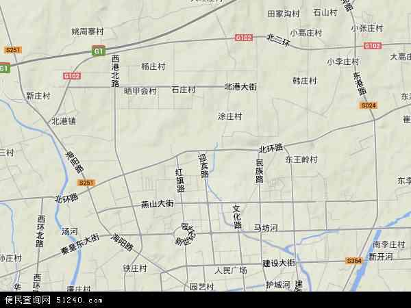 中国河北省秦皇岛市海港区北环路地图(卫星地图)