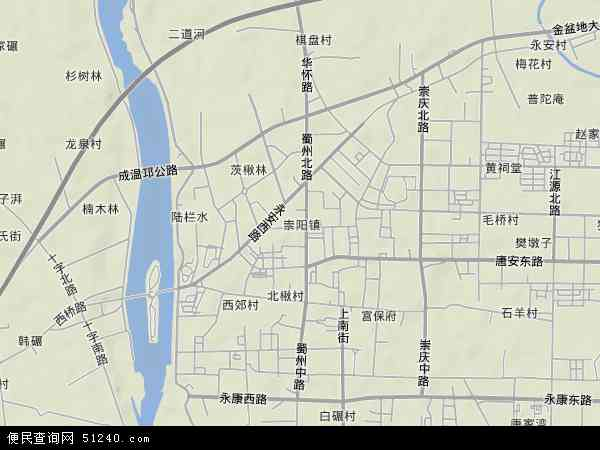 崇阳地形地图