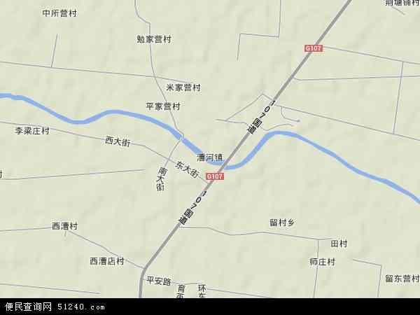中国河北省保定市徐水县漕河镇地图(卫星地图)