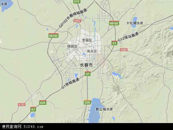 长春市北斗卫星地图2015图片