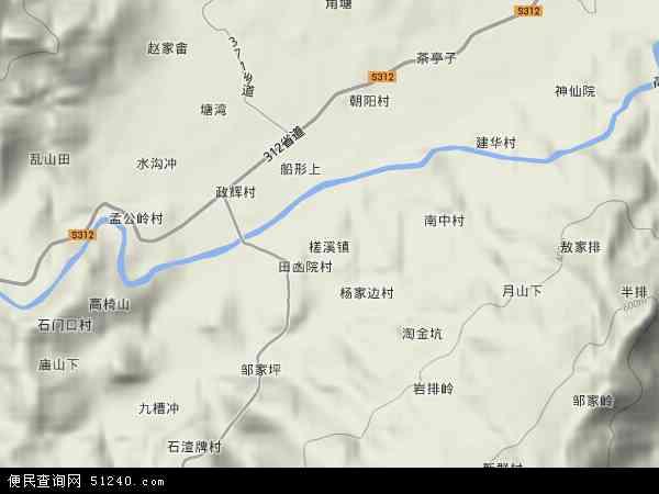 中国湖南省娄底市新化县槎溪镇地图(卫星地图)