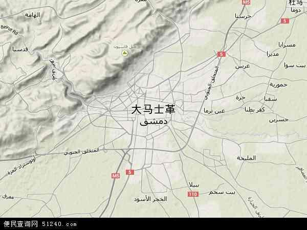 大马士革地图 - 大马士革卫星地图