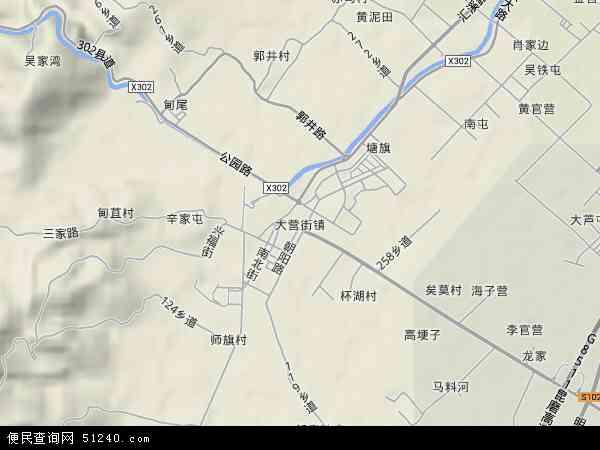 中国云南省玉溪市红塔区大营街地图(卫星地图)