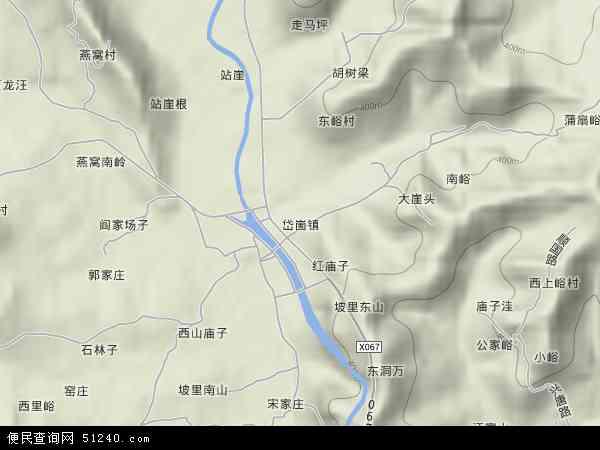 中国山东省临沂市蒙阴县岱崮镇地图(卫星地图)