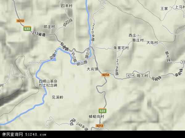 中国浙江省宁波市余姚市大岚镇地图(卫星地图)