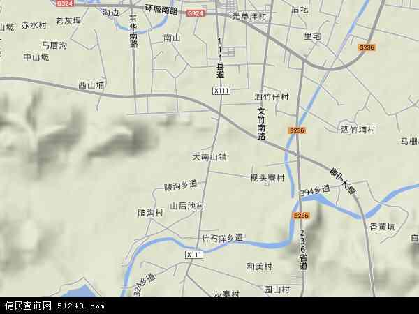 大南山地图 - 大南山卫星地图 - 大南山高清航拍地图