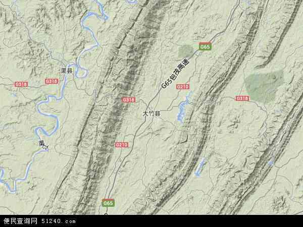 大竹县地图 - 大竹县卫星地图