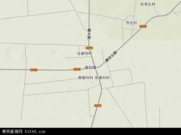 中国河北省廊坊市文安县德归镇地图(卫星地图)