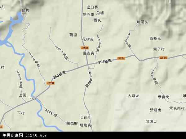 中国广东省肇庆市四会市地豆镇地图(卫星地图)