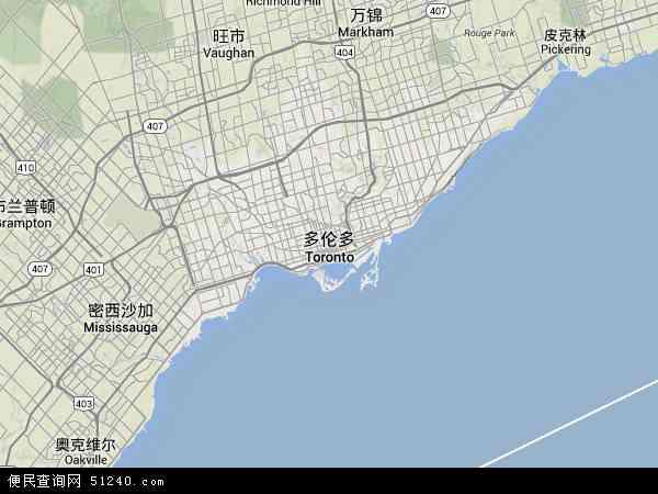 多伦多地图 - 多伦多卫星地图