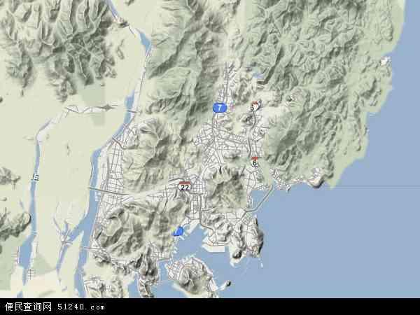 山卫星地图高清版