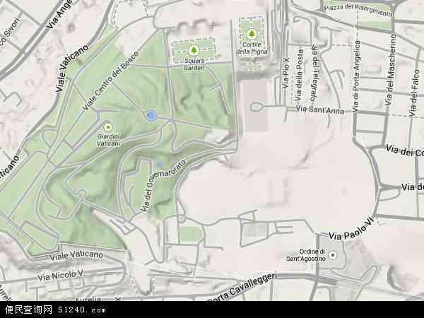 梵蒂冈地图 - 梵蒂冈卫星地图