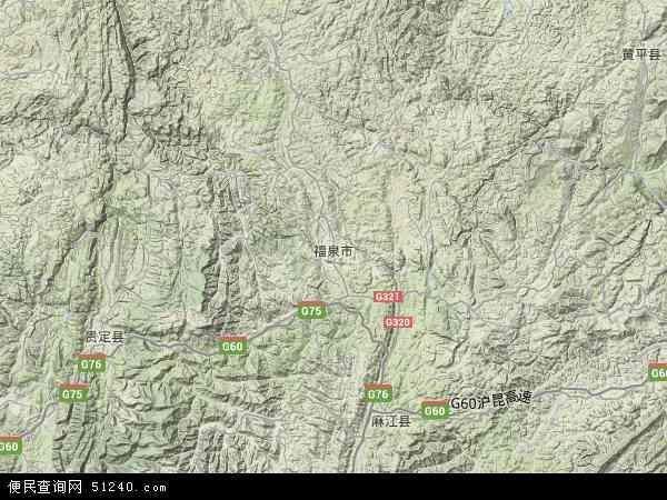 福泉市地图 - 福泉市卫星地图图片