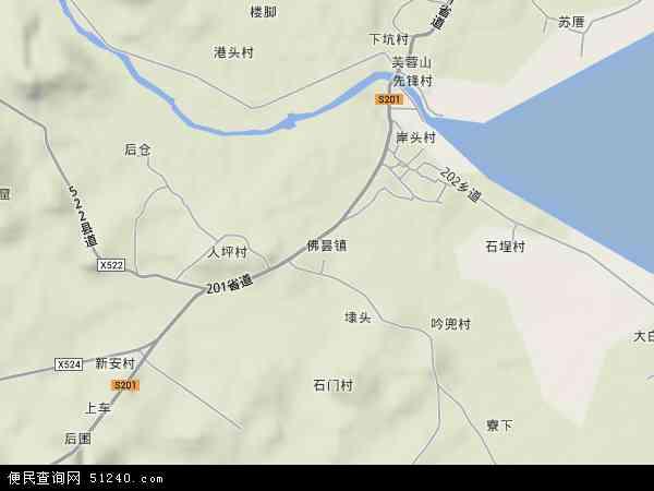 中国福建省漳州市漳浦县佛昙镇地图(卫星地图)