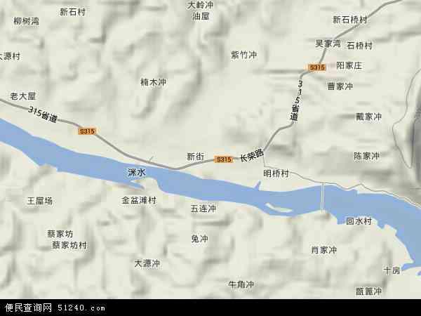 中国湖南省衡阳市衡东县甘溪镇地图(卫星地图)