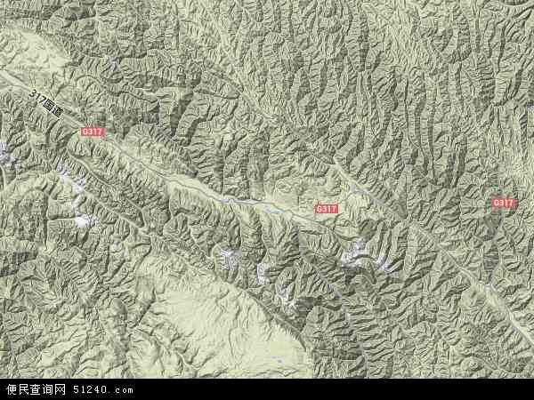 甘孜藏族自治州地图展示
