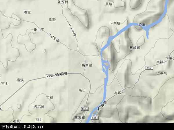 中国江西省抚州市资溪县高阜镇地图(卫星地图)