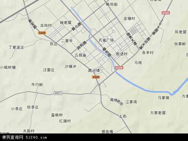 高河镇西瓜-高河镇地图美女-高河镇野兽v西瓜卫星与地图高清图片