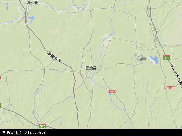 中国河南省信阳市固始县地图(卫星地图)