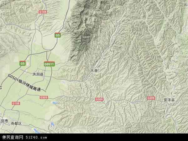 古县地图 山西古县地图 临汾古县地图