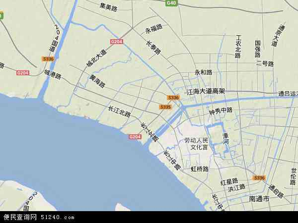 港闸区高清卫星地图 港闸区2016年卫星地图 中国江苏省南通市港闸