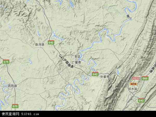 广安区地图 广安区卫星地图 广安区高清航拍地图 广安区高清卫星地图