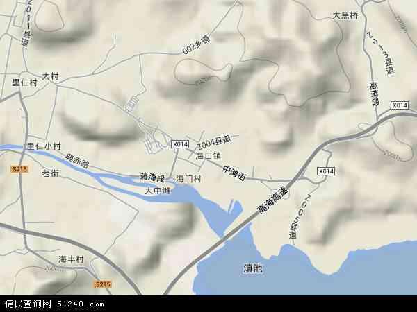 中国云南省昆明市西山区海口地图(卫星地图)-云南贫困山区儿童参