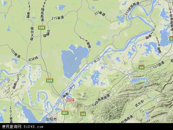中国湖北省荆州市洪湖市地图(卫星地图)