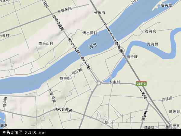 赫山高清卫星地图 赫山2017年卫星地图 中国湖南省益阳市赫山区赫