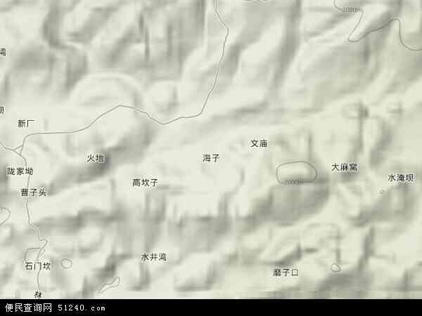 海子镇卫星影像,海子镇高清卫星航拍地图,海子镇航拍照片,2017海子镇