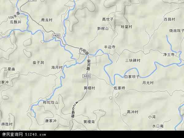 中国重庆市荣昌县河包镇地图(卫星地图)