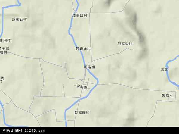 中国山东省烟台市莱阳市河洛镇地图(卫星地图)